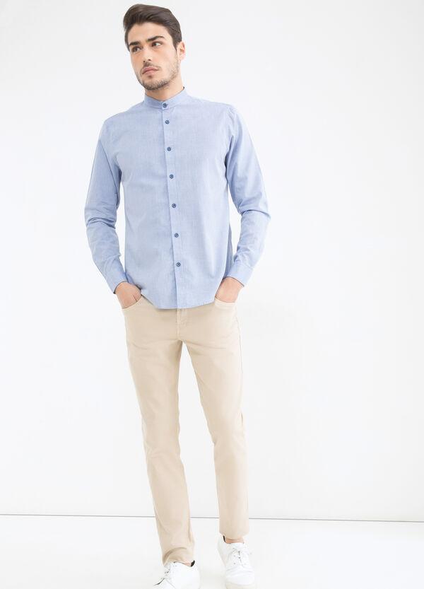 Camicia cotone colletto coreana   OVS