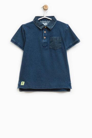 100% cotton polo shirt with pocket