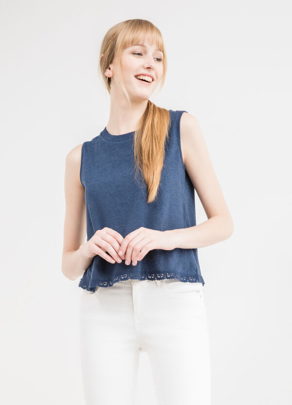 100% cotton vest top with insert | OVS