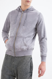 Cotton blend gym hoodie, Grey, hi-res