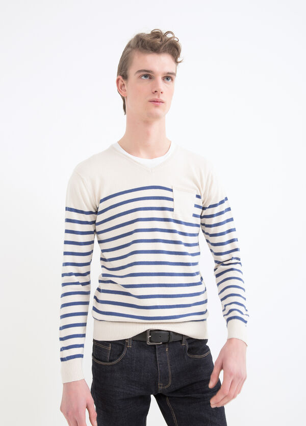 100% cotton V neck pullover   OVS