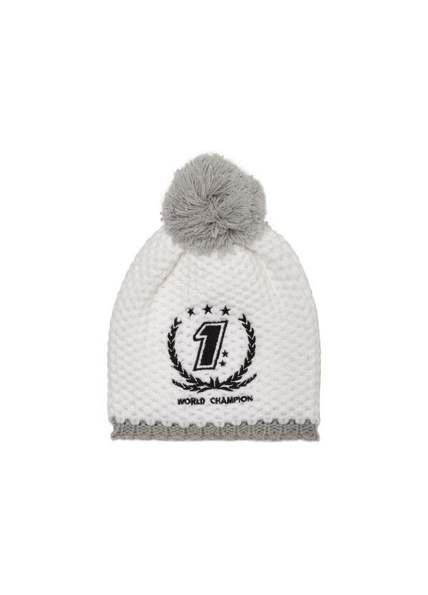Beanie cap with pompoms | OVS