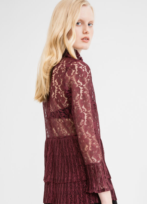 Lace blouse with floral pattern | OVS