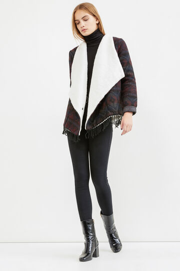 Jacket with faux fur lining, Blue/Red, hi-res