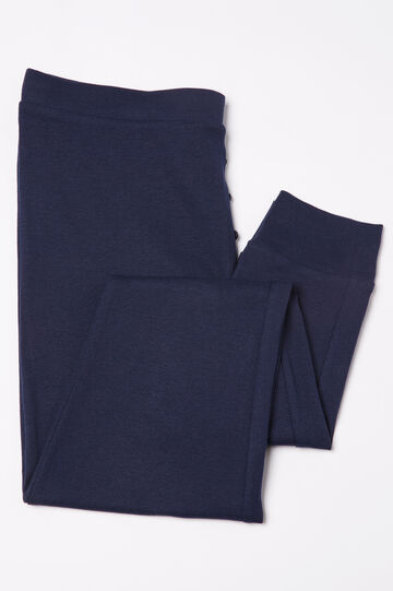 Cotton pyjama trousers, Navy Blue, hi-res