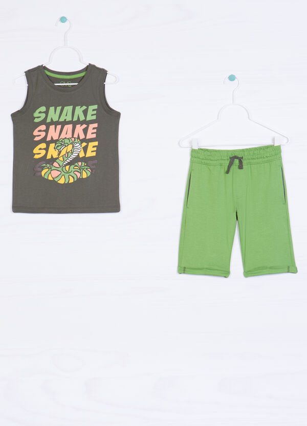 100% cotton outfit with drawstring | OVS