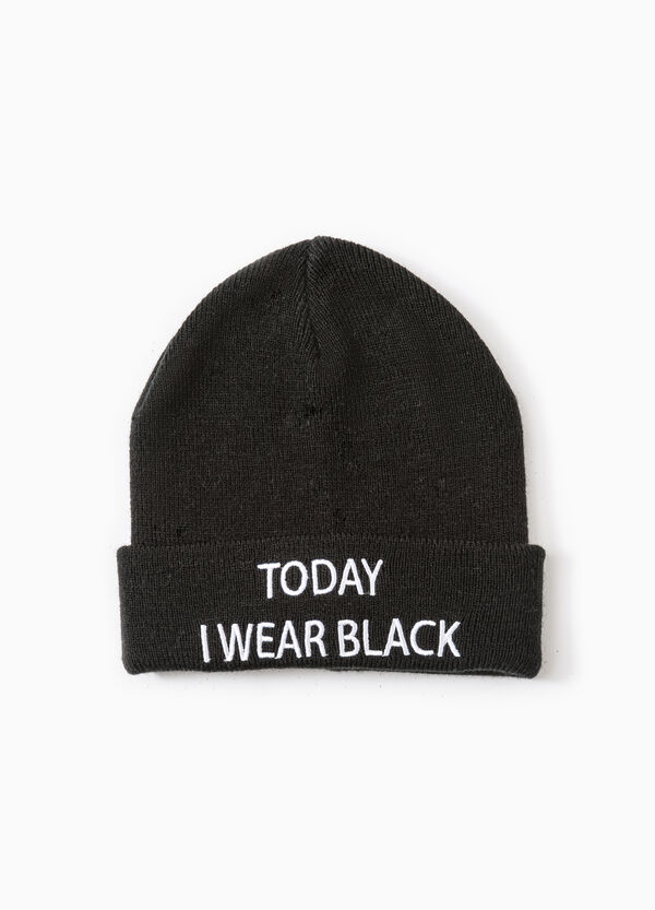 Beanie cap with embroidered lettering | OVS