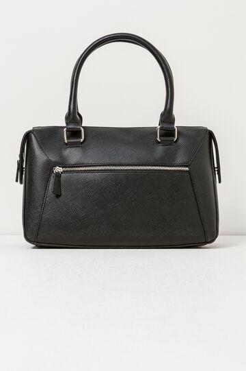 Shoulder bag with zipped pocket, Black, hi-res