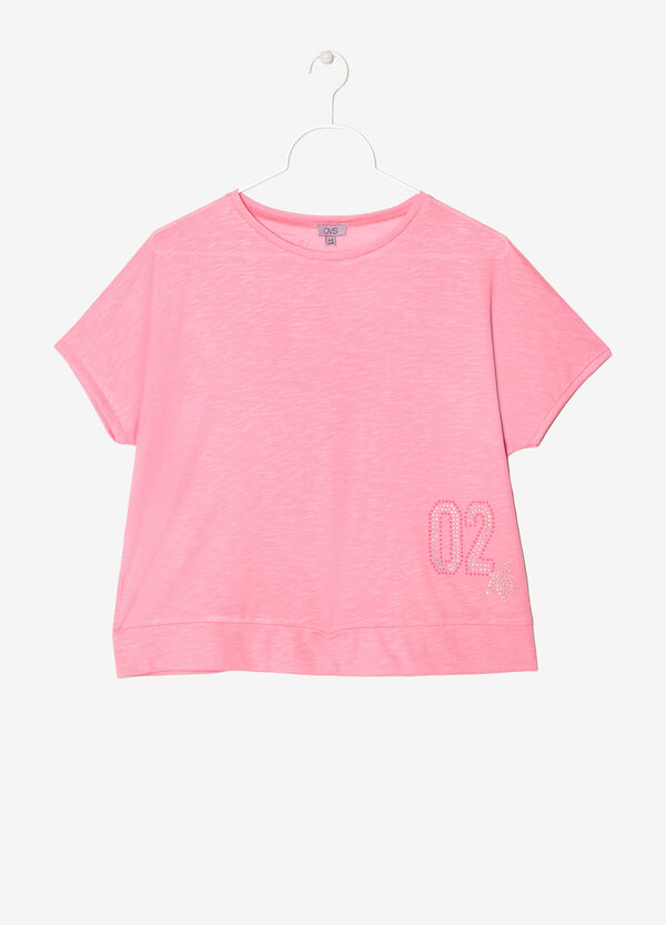 T-shirt larga con strass | OVS