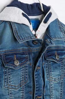 Giubbotto di jeans con cappuccio, Blu denim, hi-res