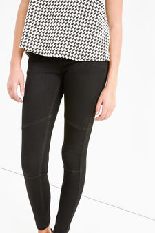 Plain skinny fit stretch jeans., Black, hi-res