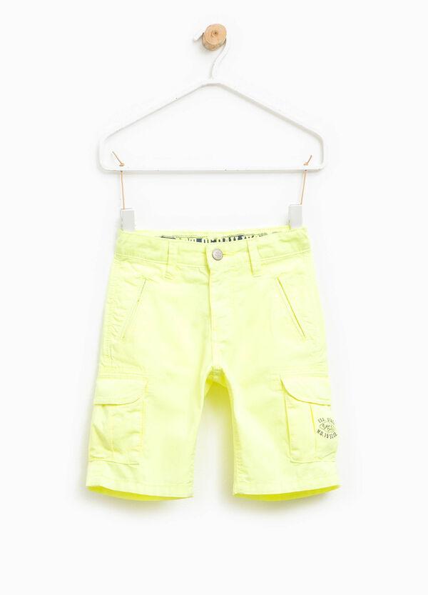 Printed cotton cargo Bermuda shorts | OVS