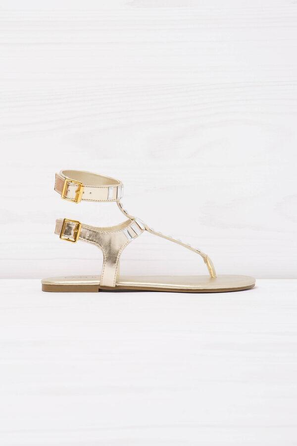 Thong sandals with diamantés. | OVS