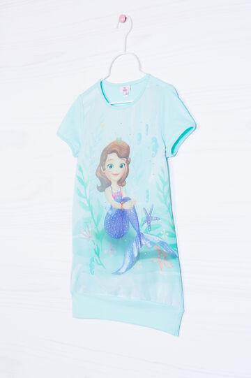 Disney print cotton T-shirt, Aqua Blue, hi-res