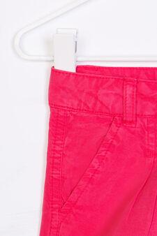 Solid colour 100% viscose shorts, Fuchsia, hi-res