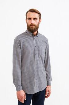 Cotton formal shirt with regular fit, Beige, hi-res