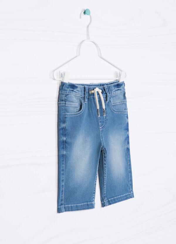 Faded denim shorts with drawstring | OVS
