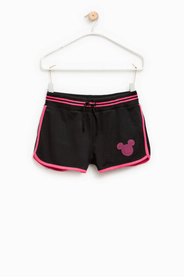 Mickey Mouse shorts with diamantés, Black, hi-res