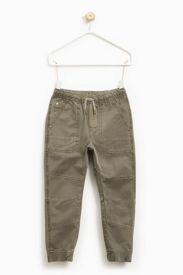 100% cotton twill trousers, Army Green, hi-res