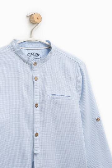 100% cotton micro check shirt