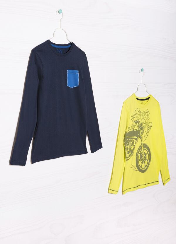 Set due t-shirt cotone stampate | OVS