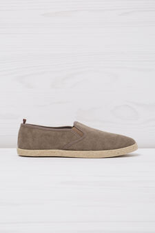Slip-ons with cord trim sole, Brown, hi-res