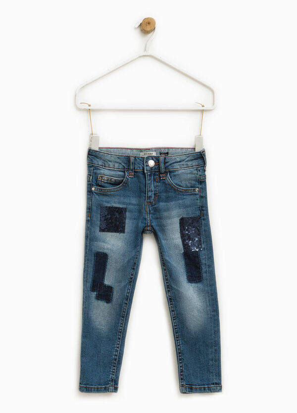 Jeans skinny fit stretch con paillettes | OVS