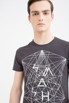 100% cotton printed T-shirt, Smoke Grey, hi-res