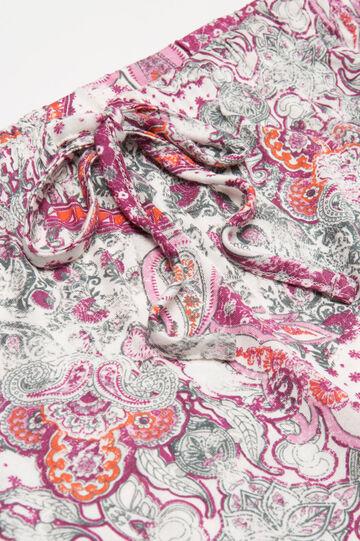 100% viscose pyjamas with pattern, Cream White, hi-res