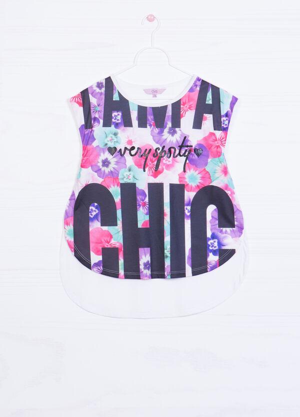 Printed sleeveless T-shirt | OVS