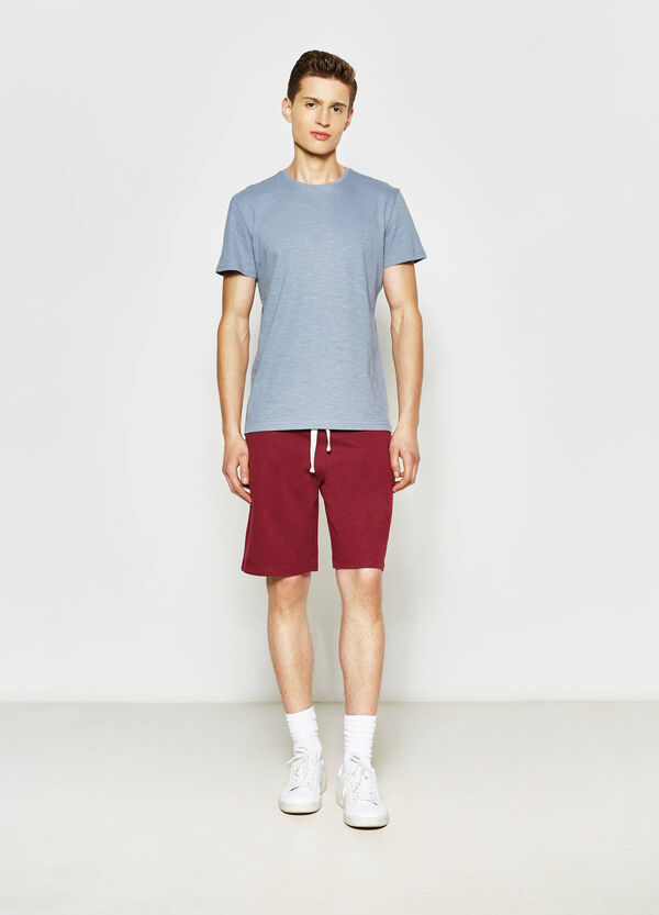 Cotton blend Bermuda shorts with drawstring | OVS