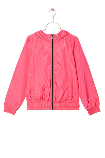 Hooded windbreaker, Fuchsia, hi-res