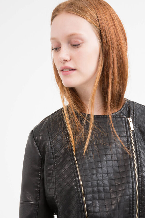 Quilted leather look Curvy jacket | OVS