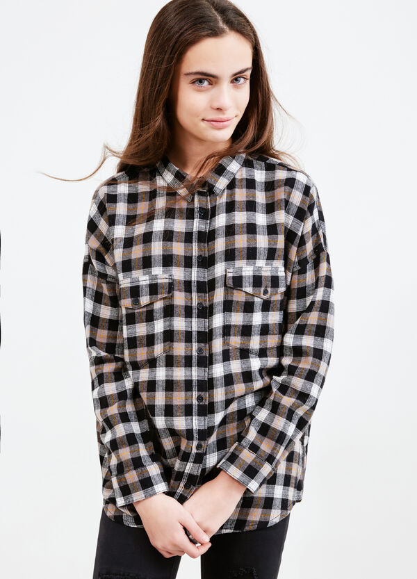 Teen tartan shirt in 100% cotton | OVS