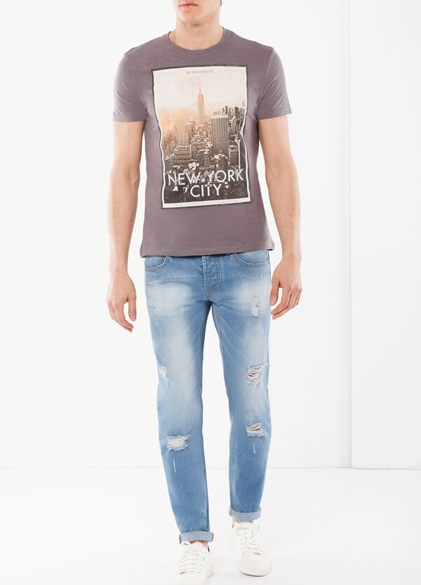 T-shirt with city print | OVS