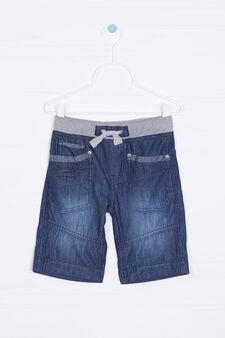 Shorts di jeans con coulisse, Lavaggio medio, hi-res