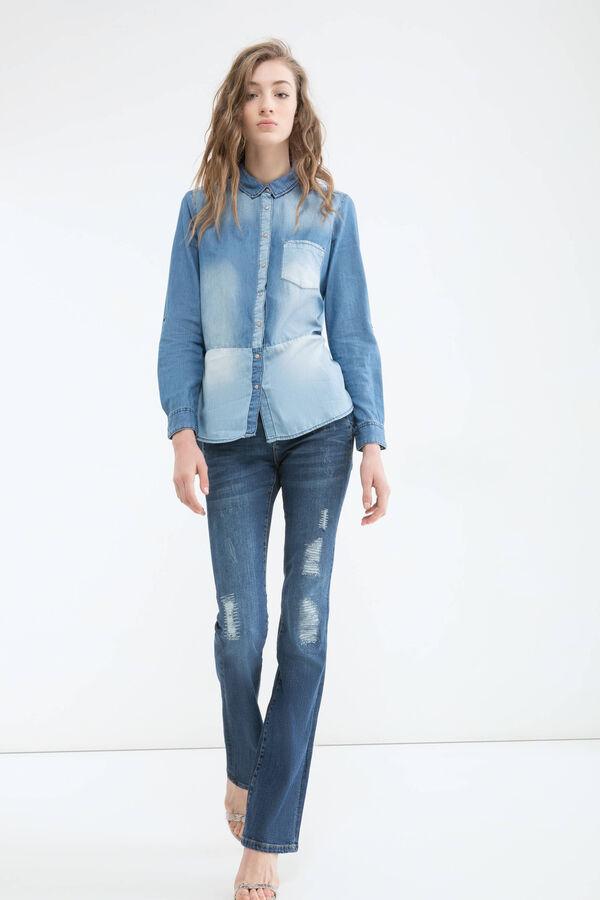 Blusa di jeans effetto used | OVS