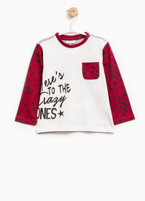T-shirt cotone taschino su petto   OVS