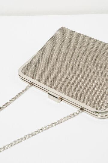Pochette clutch trama in rilievo, Grigio platino, hi-res