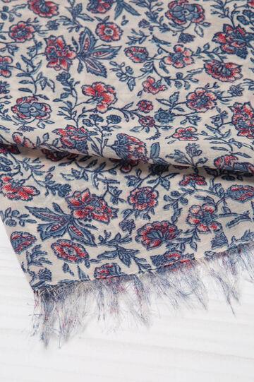 Floral print scarf, Multicolour, hi-res