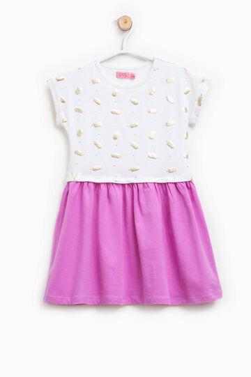 Dress with glitter pattern