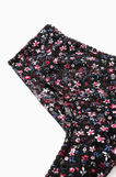 Stretch French knickers with floral print, Black, hi-res