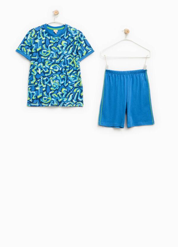 Pijama de camiseta y pantalón corto 100% Biocotton | OVS
