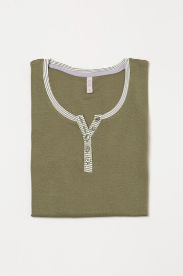 100% cotton pyjama top, Green, hi-res
