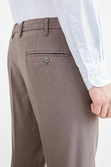Rumford micro patterned trousers, Grey, hi-res