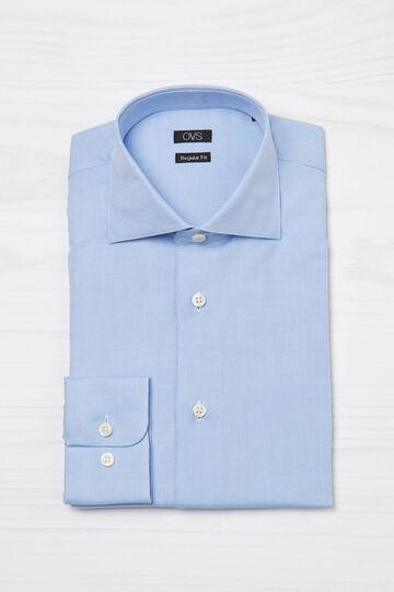 100% cotton regular fit shirt, Light Blue, hi-res