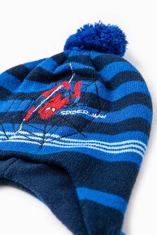Knitted Spiderman beanie cap, Blue, hi-res