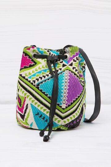 Patterned bucket bag, Green, hi-res
