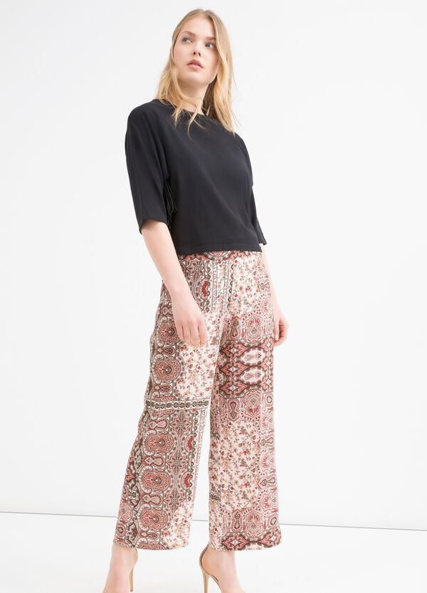 Printed stretch trousers | OVS