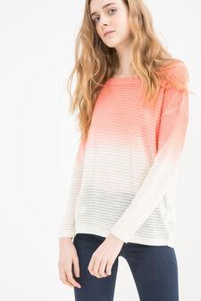 Degradé knit pullover, White/Pink, hi-res